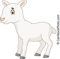 Cartoon happy goat