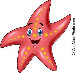 Cartoon happy starfish