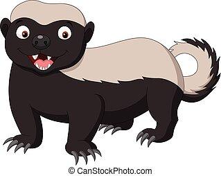 Cartoon honey badger