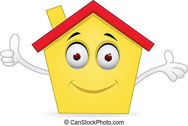 Cartoon house - Vector illustration of Cartoon house
