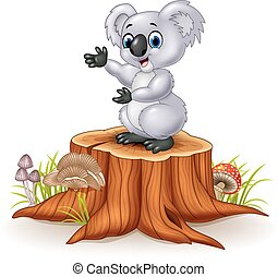 Cartoon koala presenting