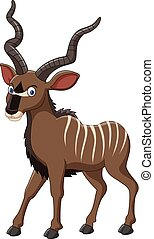 Cartoon Kudu antelope