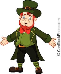 Cartoon leprechaun posing