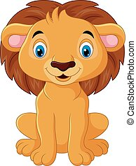 Cartoon lion character
