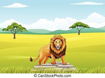 Cartoon lion mascot