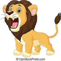 Cartoon lion roaring - Vector illustration of Cartoon lion...