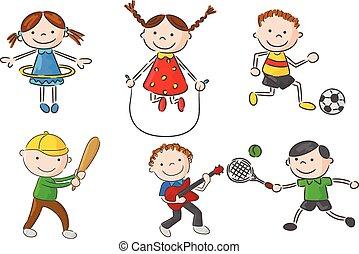 Cartoon little kids games collectio