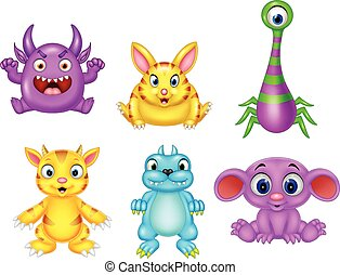 Cartoon monster collection set