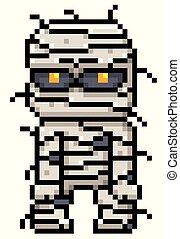 Mummy - Vector illustration of Cartoon Mummy - Pixel design