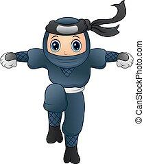 Cartoon ninja running