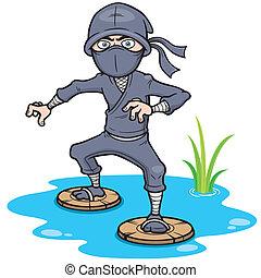 Ninja - Vector illustration of Cartoon Ninja