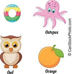 Cartoon O alphabet