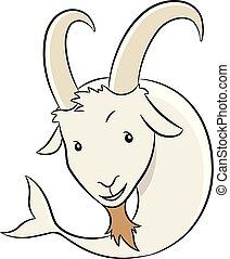 Cartoon of Capricorn Zodiac Sign