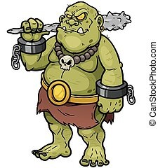 Ogre - Vector illustration of Cartoon Ogre