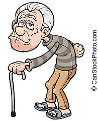 Old man - Vector illustration of Cartoon Old man