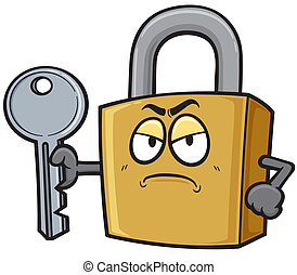Padlock - Vector illustration of Cartoon Padlock