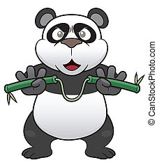 Cartoon panda - Vector illustration of Cartoon panda