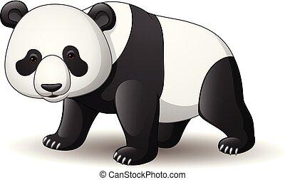 Cartoon panda isolated on white background