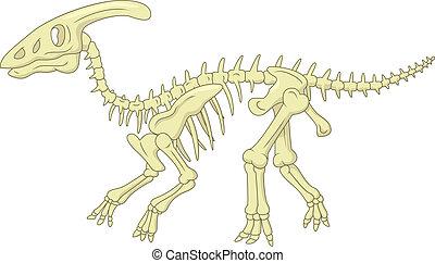 Cartoon Parasaurolophus skeleton