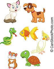 Vector illustration of Cartoon pet