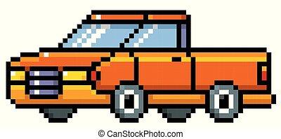 Cartoon Pickup - Vector illustration of Cartoon Pickup -...