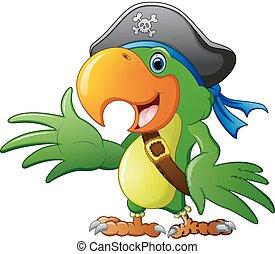 Cartoon pirate parrot