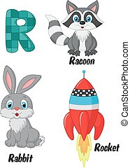 Cartoon R alphabet