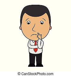 Vector illustration of Cartoon sad businessman