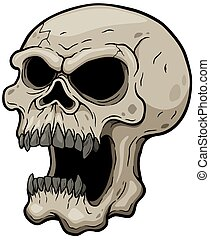 Skull - Vector illustration of Cartoon Skull