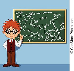 Cartoon smart boy - Vector illustration of Cartoon smart boy...