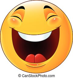 Cartoon smiley emoticon laughing