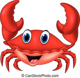 Cartoon smiling crab