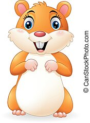 Cartoon smiling hamster