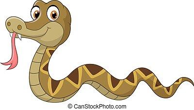 Cartoon snake character