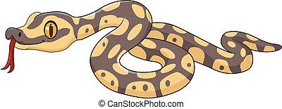 Cartoon snake character isolated
