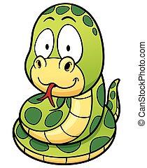 Snake - Vector Illustration of Cartoon Snake