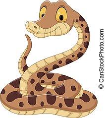 Cartoon snake on white background