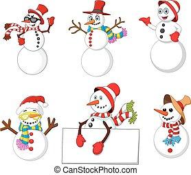 cartoon snowman collection