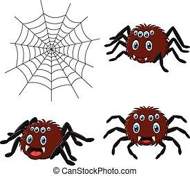 Cartoon spider collections set