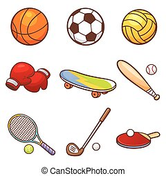 Sport - Vector illustration of Cartoon Sport set