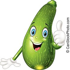 Cartoon squash giving thumbs up