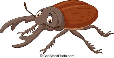 Vector illustration of Cartoon stag beetle