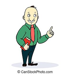 Vector illustration of Cartoon standing businessman