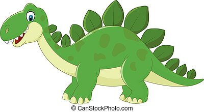 Cartoon Stegosaurus Dinosaur
