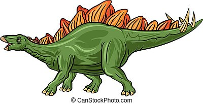 Cartoon stegosaurus isolated