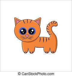 Vector illustration of cartoon tiger cub