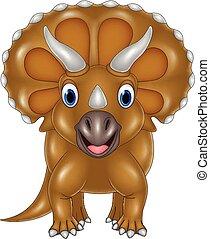 Cartoon Triceratops isolated