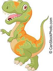 Cartoon tyrannosaurus - Vector illustration of Cartoon...