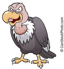 Cartoon vulture - Vector illustration of Cartoon vulture