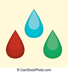 Vector illustration of cartoon water blood oil drop